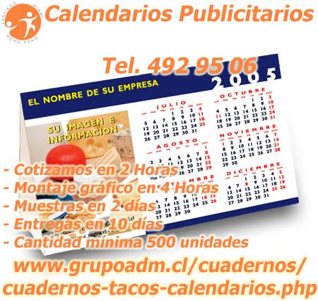 Calendarios Publicitarios corporativos