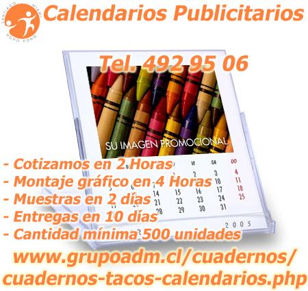 Edición de Calendarios para Merchandising con muestras digitales en 24 horas