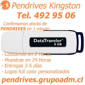 Pendrives Kingston 8 GB pendrives.grupoadm.cl Tel. 492 95 06