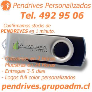 Pendrives con logo Personalizado www.grupoadm.cl Tel. 492 95 06