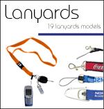 Lanyads promocionales cintas colgantes portacredenciales bordadas