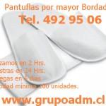 Pantuflas x mayor Bordadas www.grupoadm.cl Tel. 492 95 06