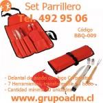 Set Parrillero BBQ-009 www.grupoadm.cl Tel. 2492 9506