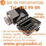 Set de Herramientas Her-001 www.grupoadm.cl Tel. 492 95 06