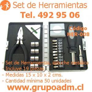Set de Herramientas Her-008 www.grupoadm.cl Tel. 492 95 06
