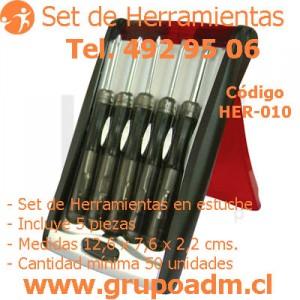 Set de Herramientas Her-010 www.grupoadm.cl Tel. 492 95 06
