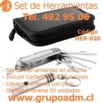 Set de Herramientas Her-020 www.grupoadm.cl Tel. 492 95 06