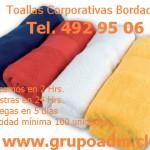 Toallas Corporativas Bordadas www.grupoadm.cl Tel. 492 95 06