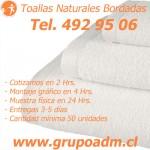 Toallas Naturales www.grupoadm.cl Tel. 492 95 06